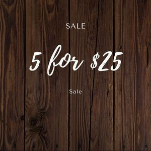 5 items for $25!!!!!